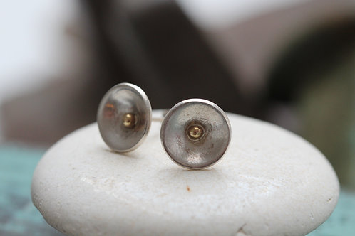SILVER & 9CT GOLD STUDS