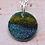 Thumbnail: Silver Enamel Necklace - Deep Yellow Speckled Blue