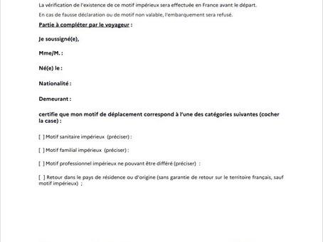 Voyage et Covid-19 : fermeture des frontières en France, motifs impérieux.