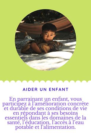 ENFANT A PARRAINER UN JOUR DANS LA VIE T