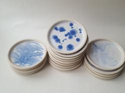 Blue and white tapas plates