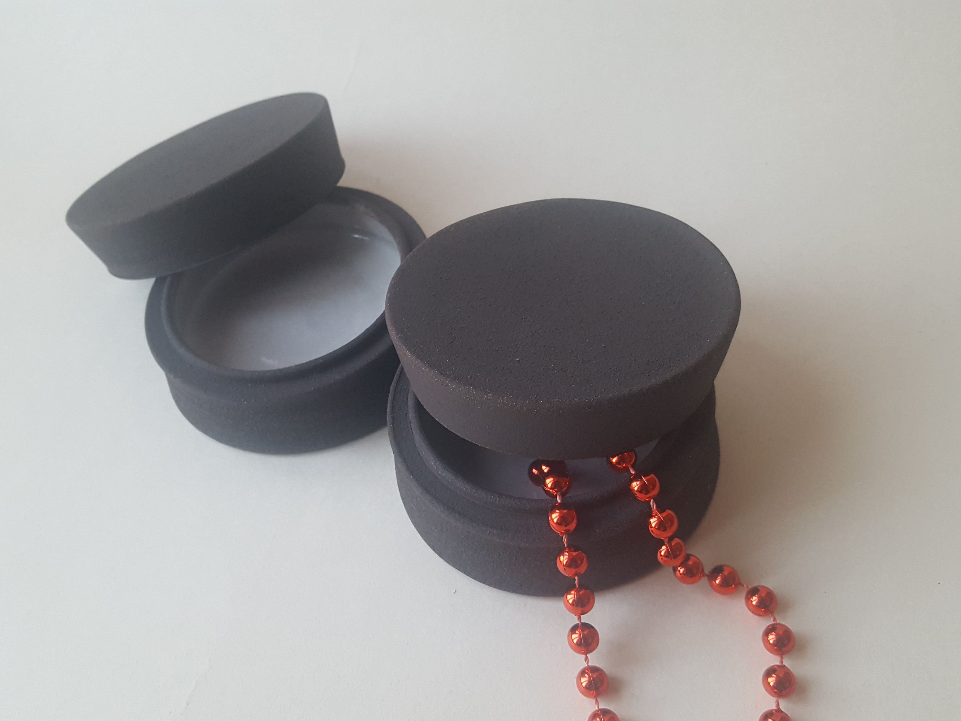 Handmade black ceramic jewellery box