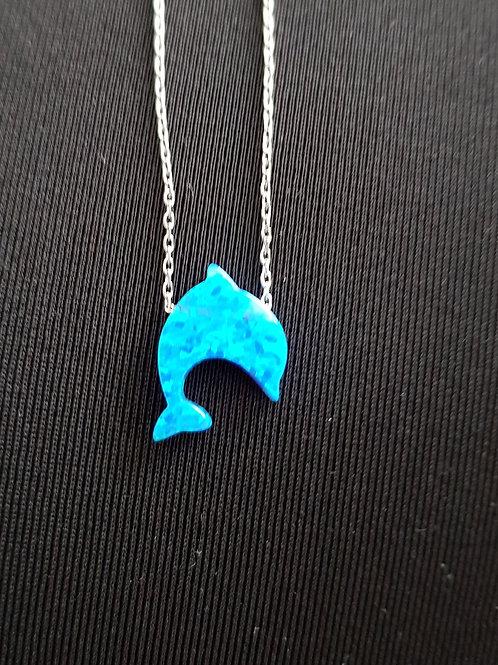 Collier et pendentif dauphin