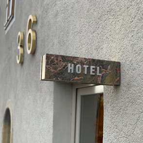 Hotel - Objektbeschriftung