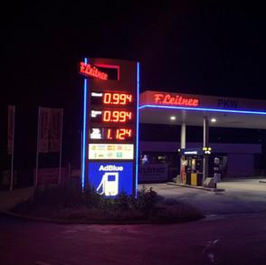 Preisanzeigen - Tankstellenwerbung