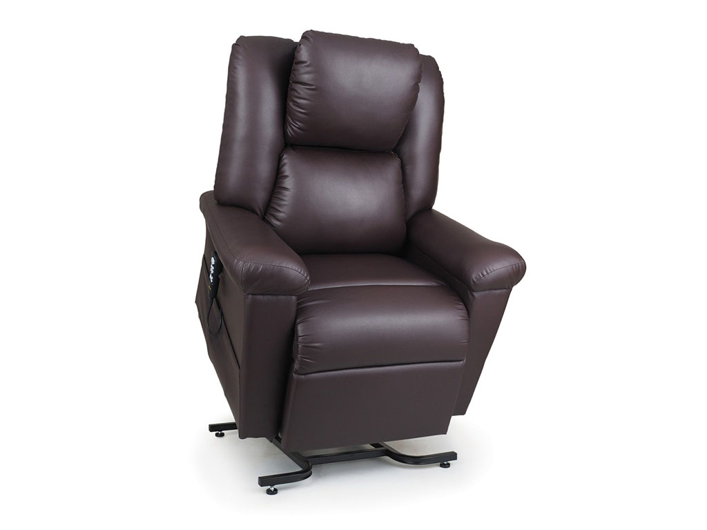 Coffee Leather Lift Chair