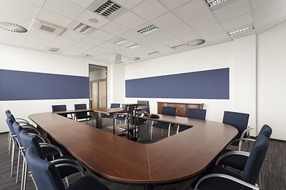 photo of office conference room with 3 s