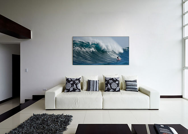 photo of living room with custom printed