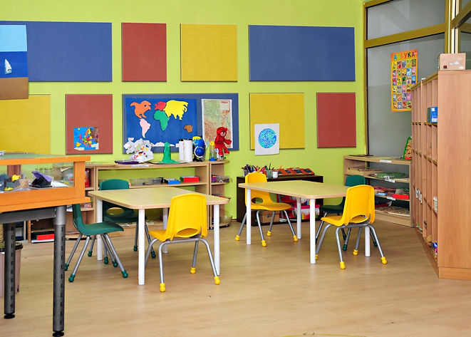 photo of kindergarden classroom with 1 S