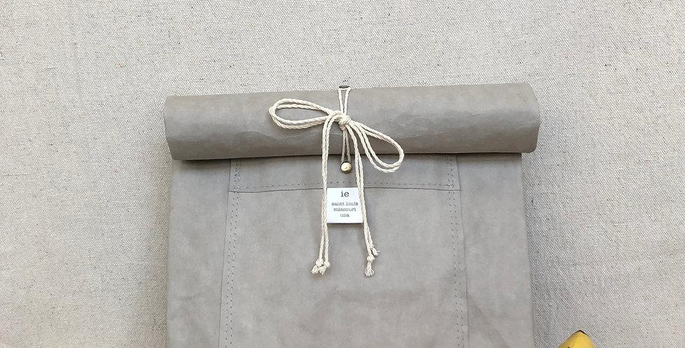 gray lunch bag