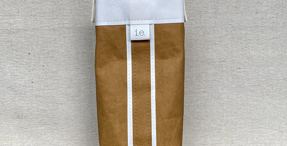 natural cocktail tote with white trim