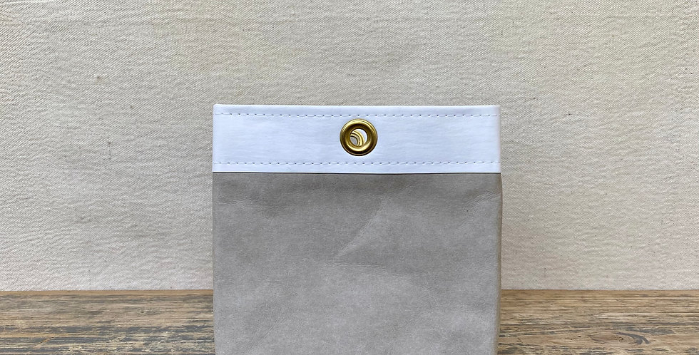 grey with white trim 6x6 storage cube
