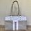Thumbnail: grey with white trim d-ring shopper