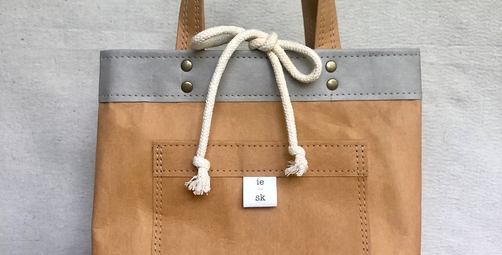 natural lunch bag with handles