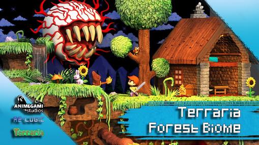 Terraria Forest Biome Diorama by Animegami