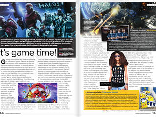 BITS + PIXELS SANDRA ARCAN TALKS ABOUT VIDEO GAME LICENSING AND ITS POTENTIAL IN THE LATEST ISSUE OF