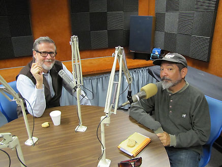 David Salcido doing an interview with Charles Horak for his On Film radio program.