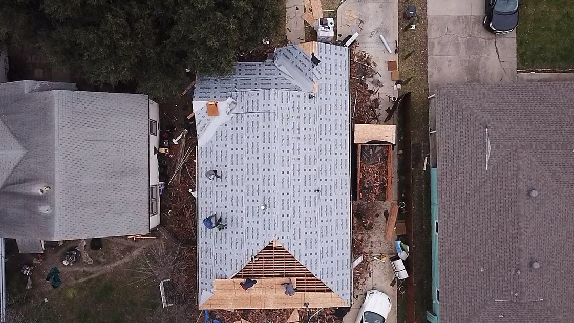 Ice and Water shield  - Synthetic Felt - roof repair