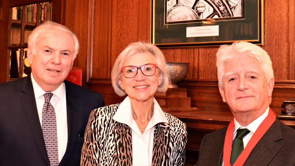 Pictured here with Justice McLachlin are Paul Tichauer (L), Chair of the Canada Branch, and James Bridgeman (R), 2018 President of the CIArb