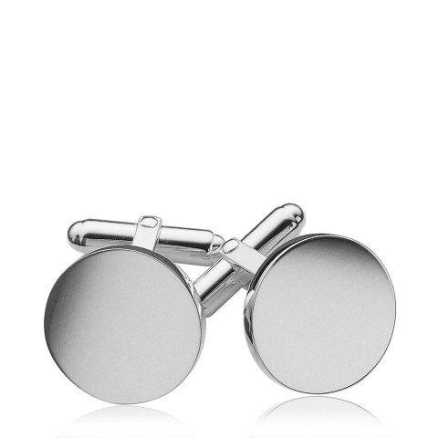 Round Cufflinks Sterling Silverbase