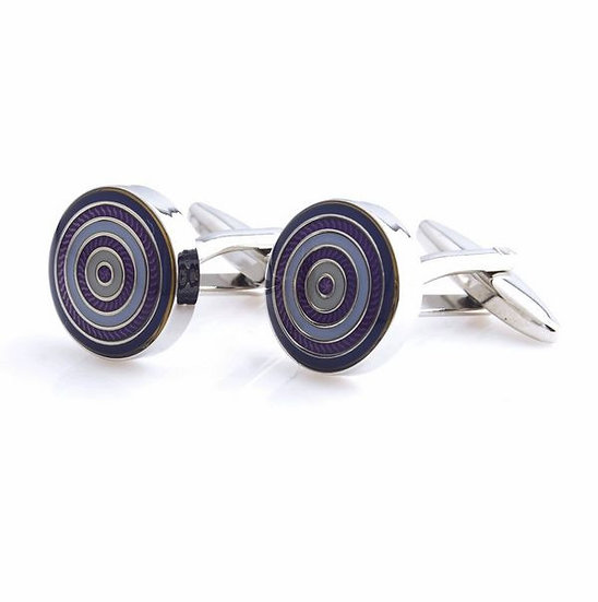 Purple Radiating Circle Cufflinks