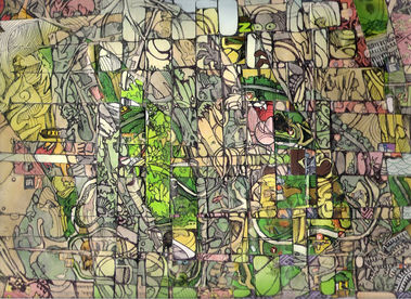 Into the jungle,collage,25/30cm,2008