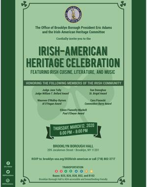 Irish Heritage Celebration !!
