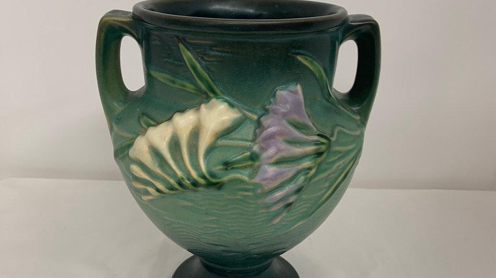 Gorgeous Vintage Roseville Urn/Vase Freesia Green Circa 1940's 196-8
