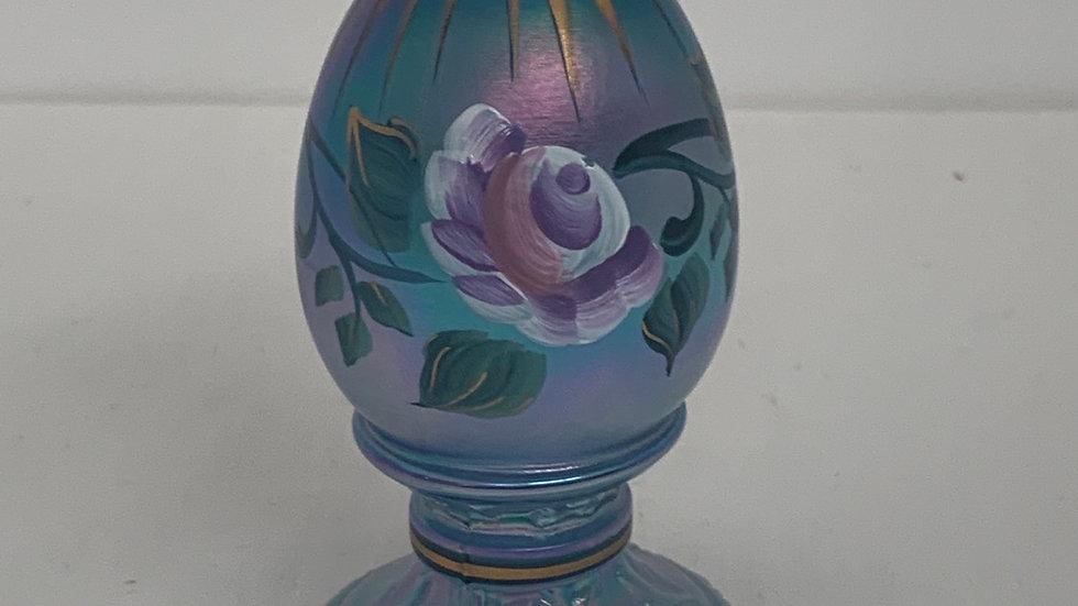 Fenton Satin Blue Egg
