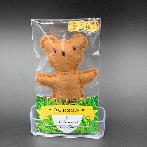Jouet Ourson pour chat à la Cataire