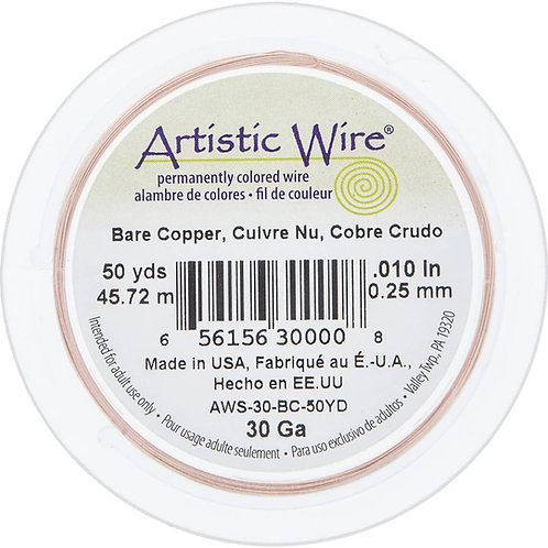 Bare Copper Wire 30g 50yds