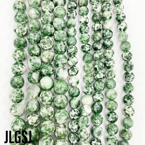 Green Spotted Jade 8mm
