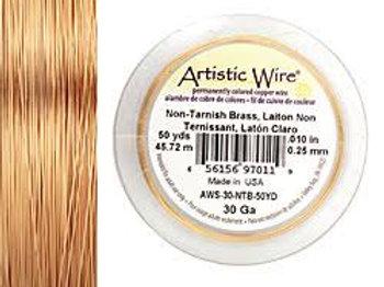 Non-Tar Brass Wire 30g 50yds