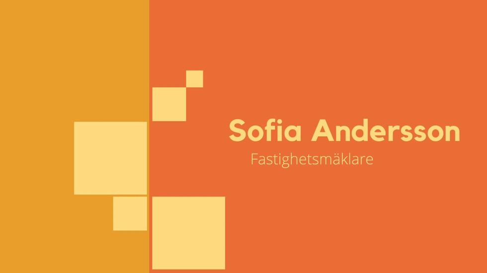 Sofia Andersson - Fastighetsmäklare, Fas