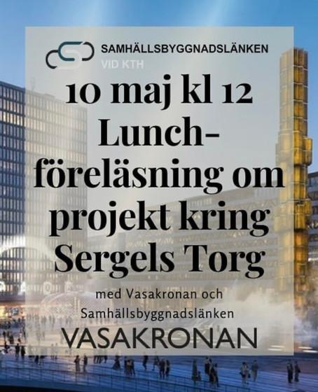 Lunchföreläsning med Samhällsbyggnadslänken och Vasakronan 10/5