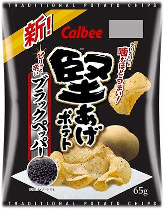堅脆系列 黑胡椒薯片  /  堅あげポテト ブラックペッパー 150G