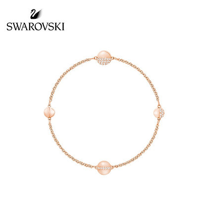 Swarovski Remix 球形手鍊,玫瑰金色