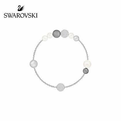 Swarovski Remix 珍珠手鍊,鍍銠
