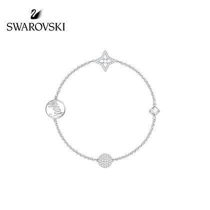 Swarovski Remix 星形手鍊,白金色