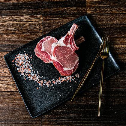 西班牙iberico 橡果級法式黑毛豬鞍. 帶骨. 厚切. 2塊/包. 160G/塊