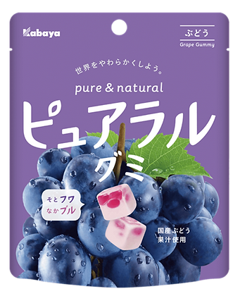 Pureral 軟糖(提子口味) 58G