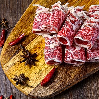美國安格斯牛肋肉. 薄切. 火鍋及韓燒用 (250G/包)