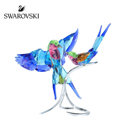 Swarovski 紫胸三寶鳥 裝飾品