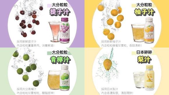 日本粒粒果汁套裝 4支 190G x 4