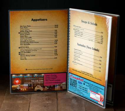 Restaurant Menu Inside Layout
