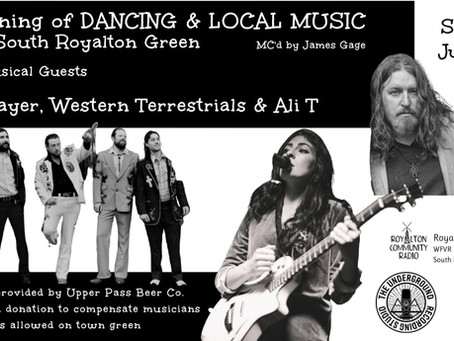 An Evening of Local Music and Dancing on the Royalton Green