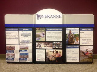 Tabletop Display for VERANNE (Veterans Education and Research Association of Northern New England)