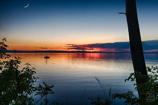 Sleep Tight- Lake Champlain at Sunset