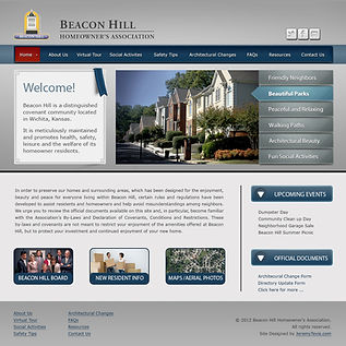 Custom Website Design for the Beacon Hill Homeowner's Association in Wichita, KS
