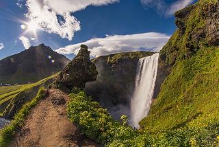The Skogafoss Ledge, Iceland